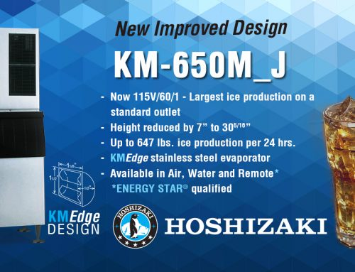 HOSHIZAKI Introduces the KM-650M_J Modular KMEdge Cuber Ice Machine
