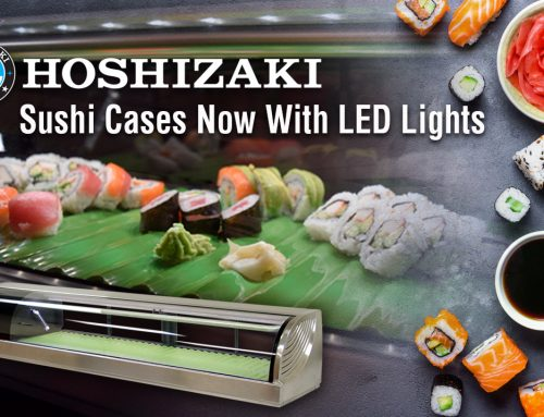 HOSHIZAKI Incorporates LED Lights into the Stainless Steel Countertop Refrigerated Display Cases